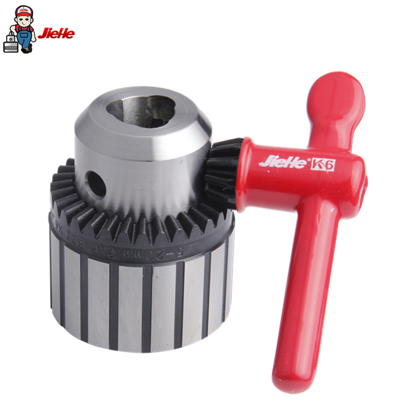 JIEHE Drill Chuck 5-20mm B22 Adjustable Collet Shaft Keyed Drill Chuck Electric Hammer Drills Power Tools Accessories jiehe drill chuck collet chuck 0 6 6mm b10 adjustable dremel keyless chucks drills power tools