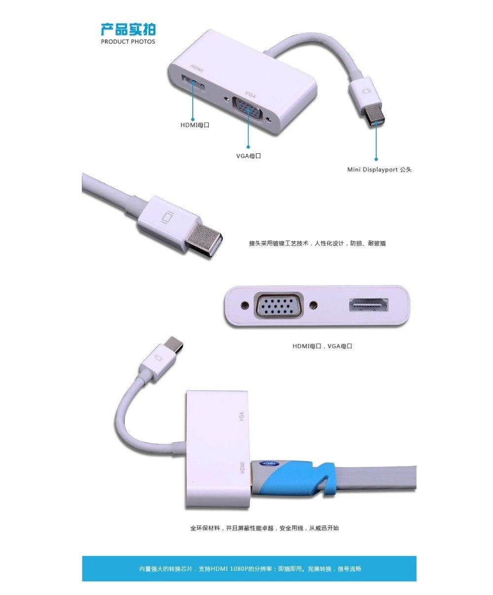 Mini Displayport To Vga Hdmi Thunder Bolt Dp Lightning Turn Display Port Adapter 13cm Converter On Alibaba Group