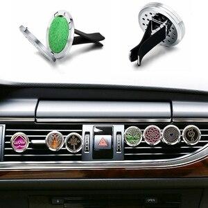 Image 2 - Auto Lufterfrischer Auto Parfüm Diffusor Clip Auto Luft Auto Vent Lufterfrischer Ätherisches Öl Parfüm Medaillon (Freies 10pc pad) c001