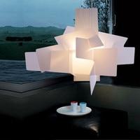 Modern Chandelier E27 Big Bang Pendant Lamp For Living Room White Acrylic Hanglamp Kitchen Fixture Indoor Lighting Lights