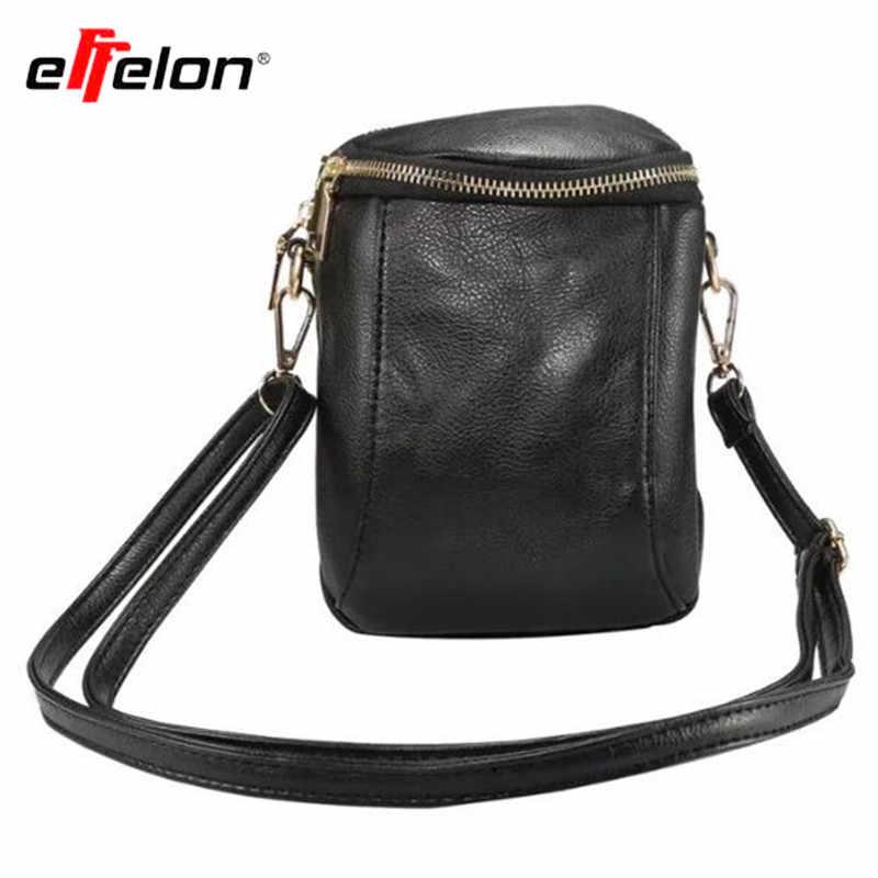 698d3c4cce8e Ретро Дамы Сумочка Дамы Сумка мешок мобильного телефона Искусственная кожа  карман кошелек сумочка шейный ремень для