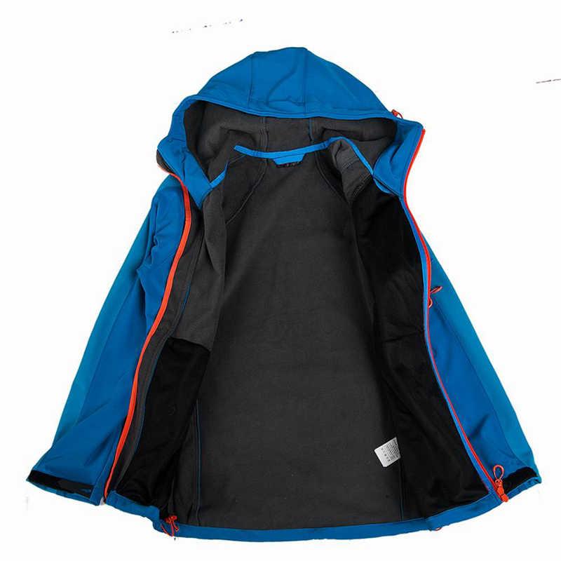 الشتاء الربيع الرجال في الهواء الطلق سترة مضادة للماء سوفتشيل WindStopper الرياضة التخييم التنزه معاطف الذكور الحرارية تزلج الملابس RM001