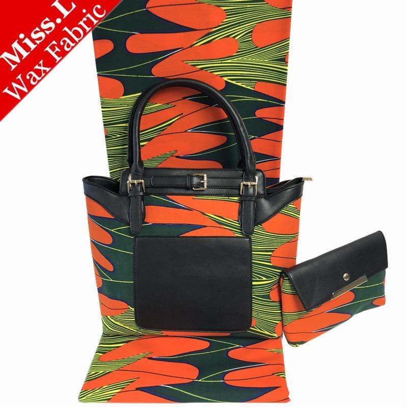 Belle conception africaine cire Sac À Main correspondant 6 yards véritable cire hollandais tissu, de haute qualité mode femme africaine cire sac