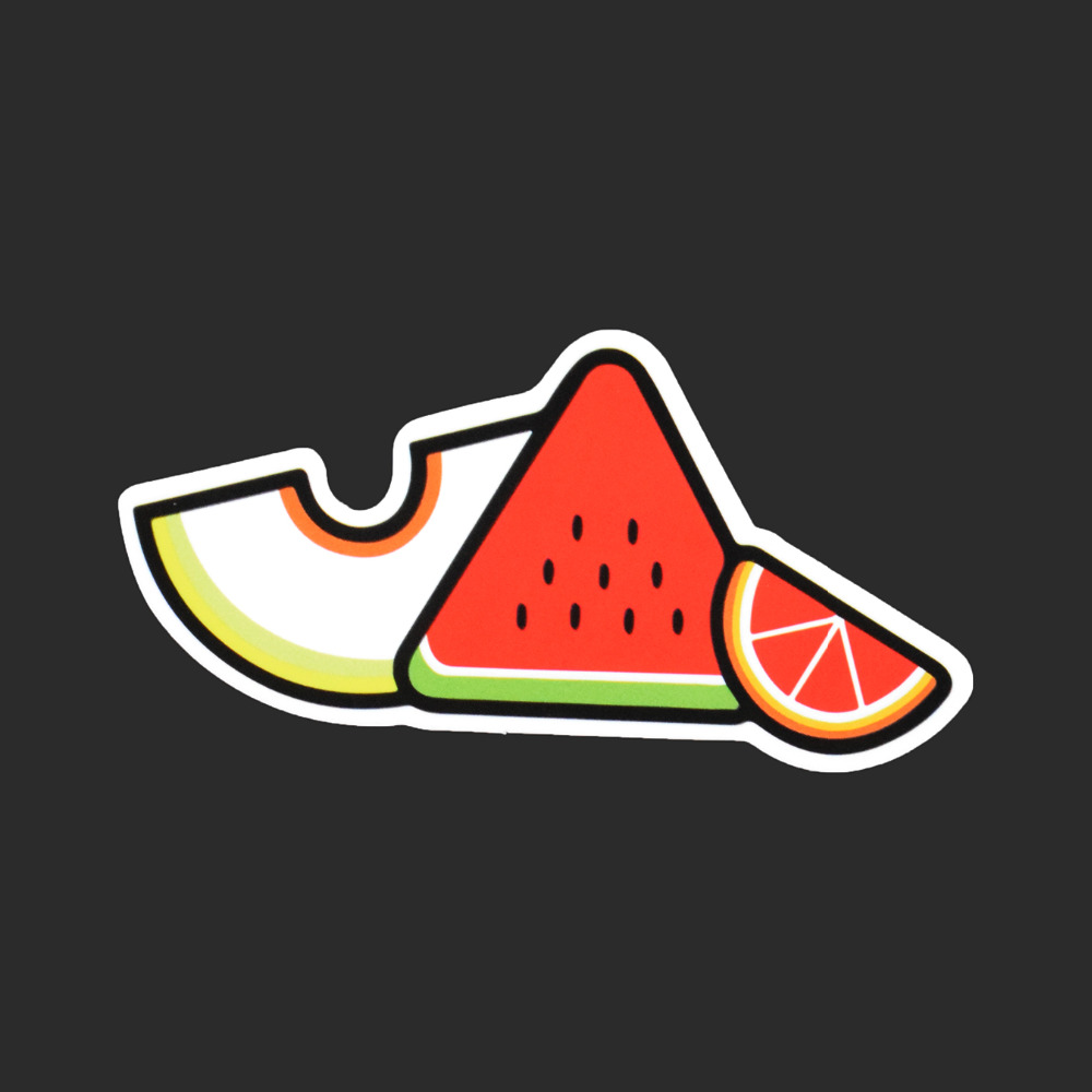 Lovely Fruits Single Sticker Car Styling Waterproof Tied Brand Stickers Luggage Skateboard Watermelon Orange Hami Melon Decals