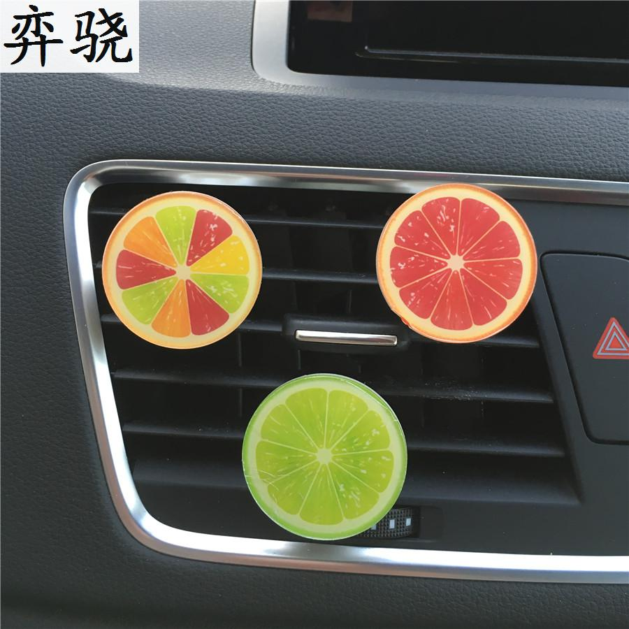 Colorful orange Car accessories Acrylic automotive air conditioning perfume Beautiful fruit styling Perfumes 100 Original