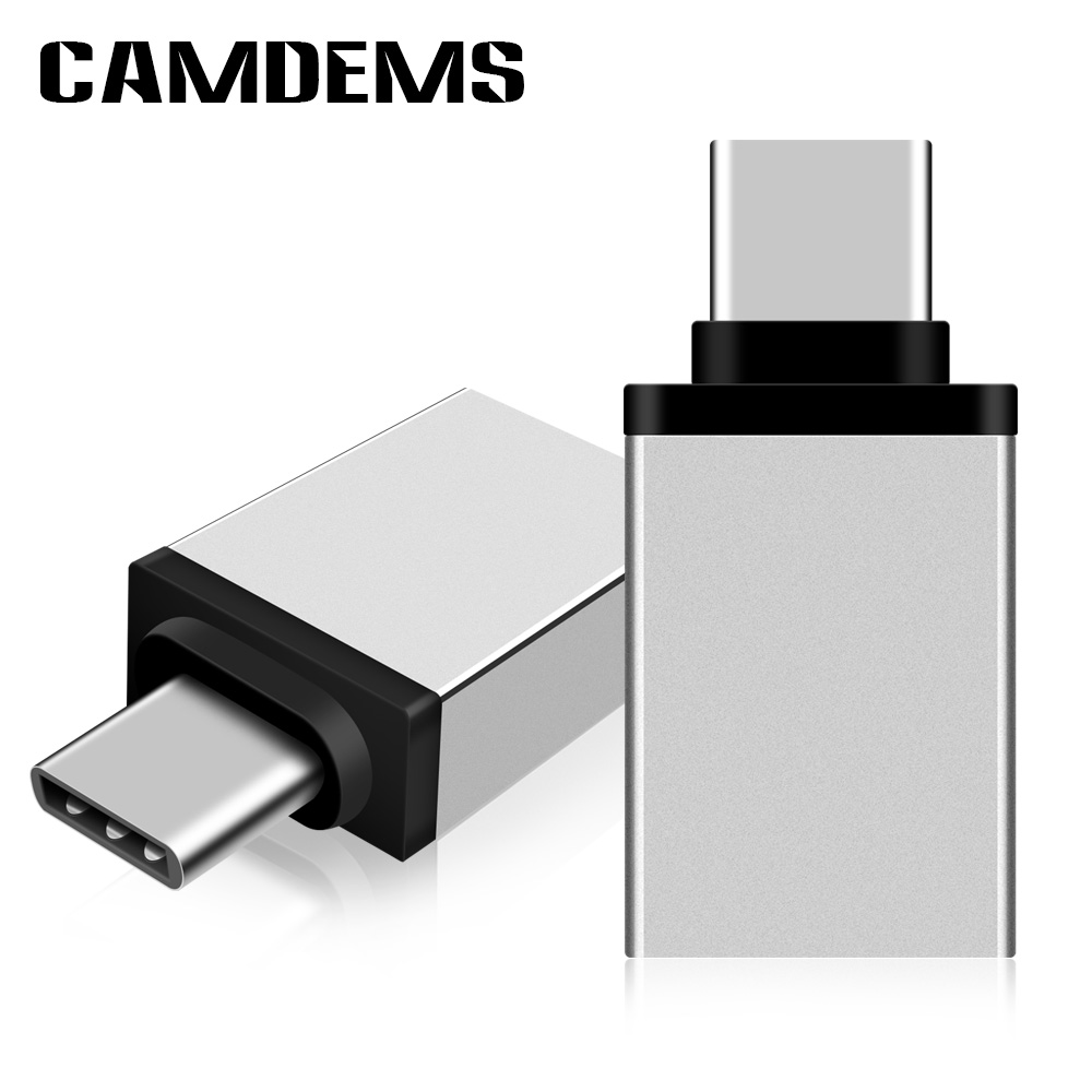 CAMDEMS 200pcs/lot Metal USB Type C Male to USB 3.0 Female Converter Adapter OTG for Samsung S8 for MacBook Series LG