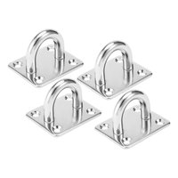 THGS 304Stainless Steel 10mm Thick Ring Square Sail Shade Pad Eye Plate Boat Rigging 4pcs