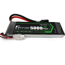 GTFDR RC Lipo 2S Battery 7.4V 5000mah 50C Max 100C For RC Bateria Drone AKKU Helicopter Car Truck Car Quadcopter FPV UAV dxf good quality lipo battery 14 8v 4s 8000mah 30c 60c rc akku bateria for airplane helicopter boat fpv drone uav