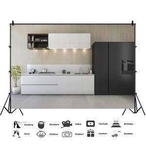 Image 3 - Laeacco Moderne Keuken Photophone Potplanten Kast Kookplaat Fotografie Achtergronden Interieur Decor Foto Achtergronden Photozone