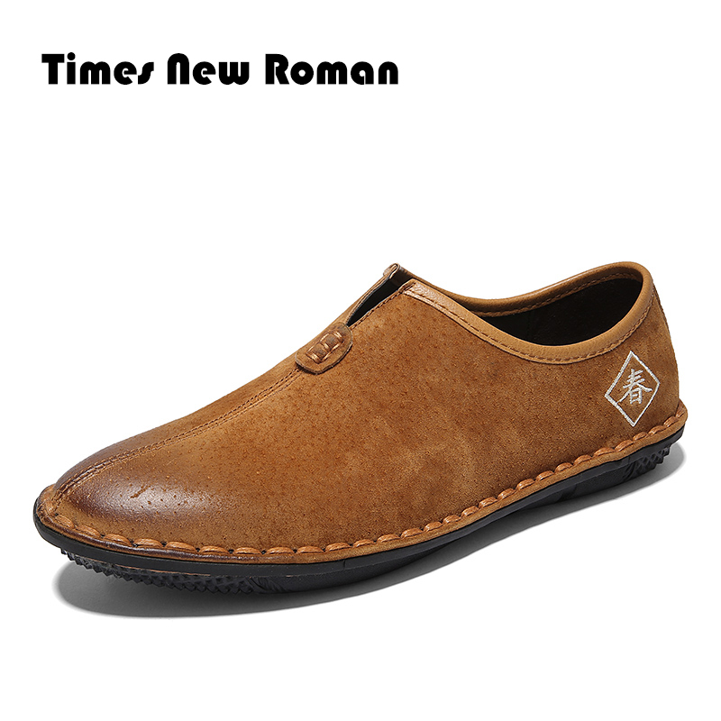 9725d4b4e30272 Times New Roman Hommes Vache Sude Chaussures En Cuir Glissement Sur noir  Chaussures Hommes En Cuir Mocassins Hommes Mocassins Chaussures Designer  Italien ...