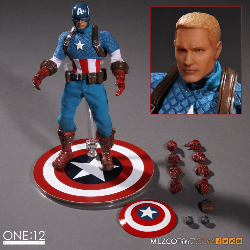 Captain America Variant Action Figure Real Colthes Verion Movable Joints Captain America PVC Figures Toy Brinquedos drop shipping captain america figure 3d