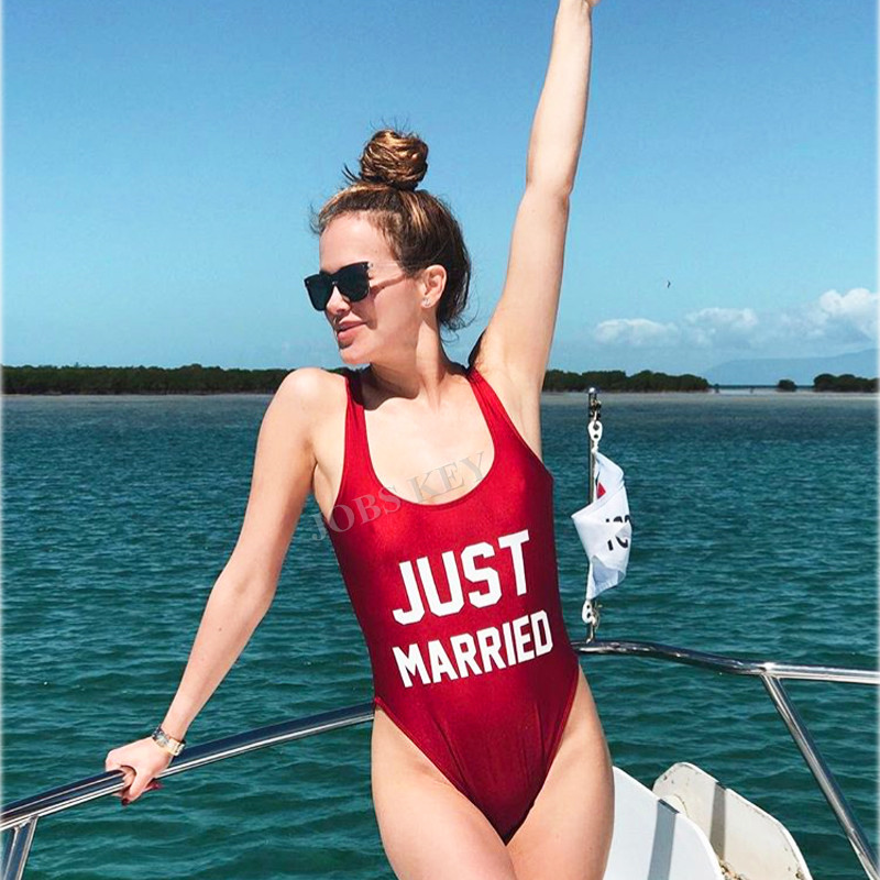 42c06b80894e8 Buy just married swimsuit and get free shipping on AliExpress.com