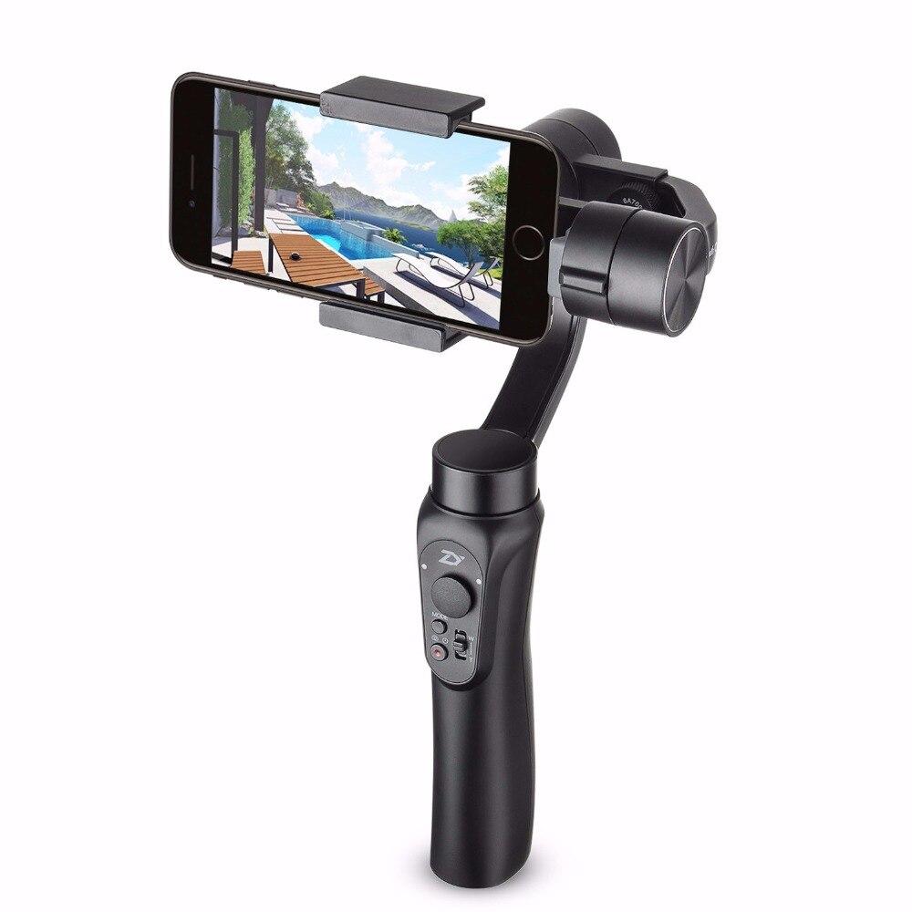 Zhiyun Smooth Q 3 eje Smartphone móvil Handheld Gimbal estabilizador para el iPhone X 8 + 7 más 6 Más samsung Control inalámbrico teléfono