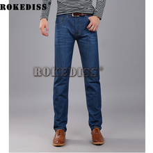 Winter men jeans 2016 famous brand Size Blue Stretch Denim Slim Fit Men Jean for Man Pants Trousers zipper Jeans C031