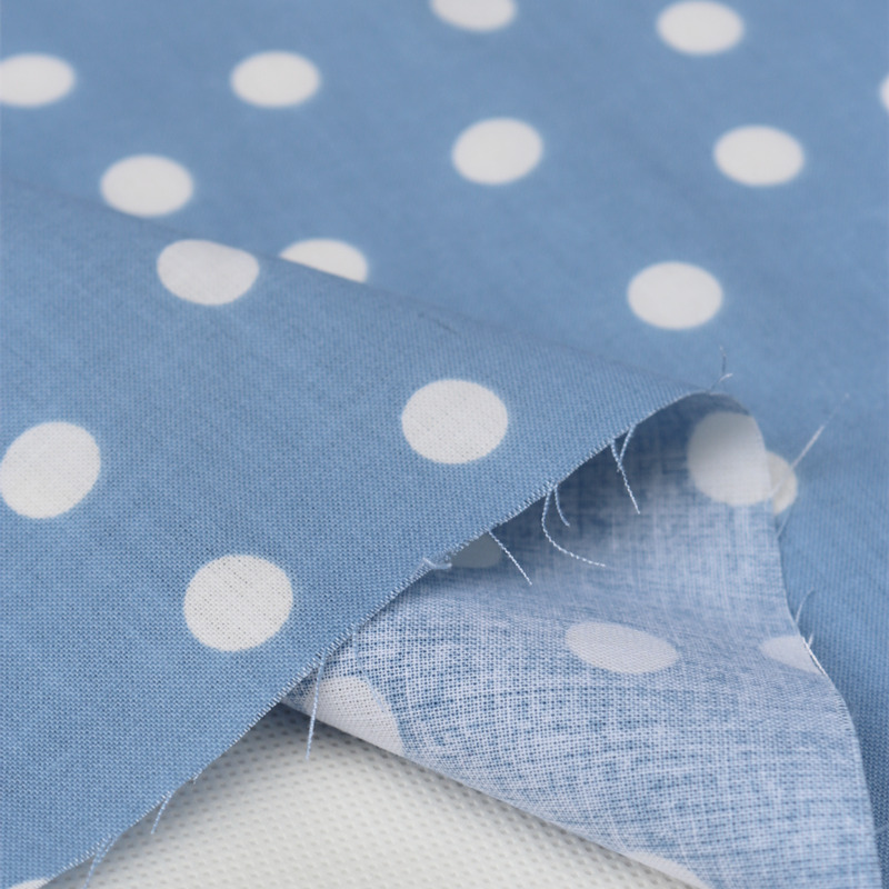 free shipping,100% cotton,blue polka dot polka fabric,for diy ,patchwork ,curtain table,craft