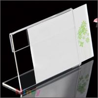 29 7 21cm L Strong Magnetic Advertising Tag Sign Card Display Stand Acrylic Table Desk Menu