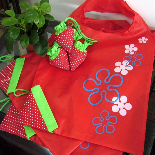 Strawberry easter egg gift bag party favor bags home storage strawberry easter egg gift bag party favor bags home storage organization bags tote foldable eco reusable negle Images