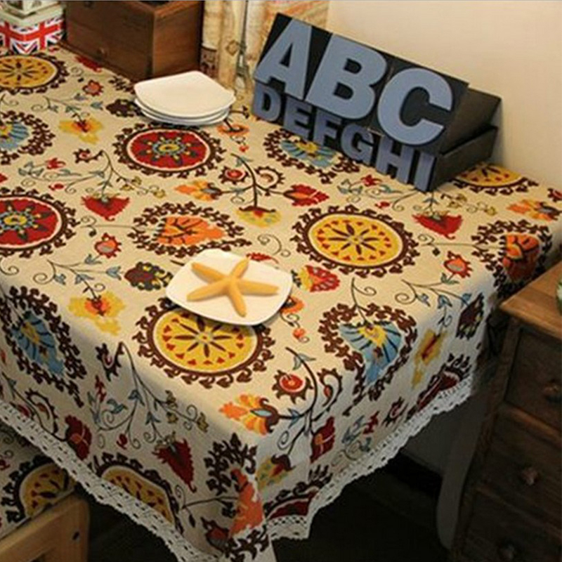 Southeast Asian Style Tablecloth Lace Linen Tablecloth End Table Cloth  Kitchen Dining Table Cloth Party Tablecloth