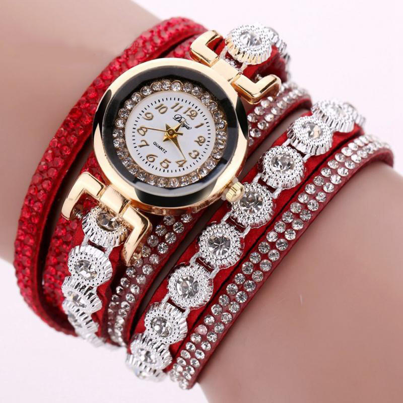 TIke Toker Fashion Luxury Rhinestone Armbandsur Klockor Ladies Quartz - Herrklockor - Foto 5