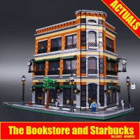 2017 New LEPIN 15017 4616Pcs Starbucks Bookstore Cafe Model Building Kits Blocks Bricks Toy Gift Educational