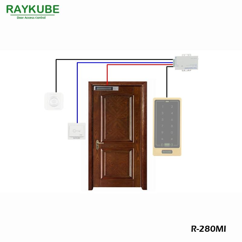 RAYKUBE 280KG (600lbs) Magnetverschluss mit Einsteckschloss für Dooe - Schutz und Sicherheit - Foto 4