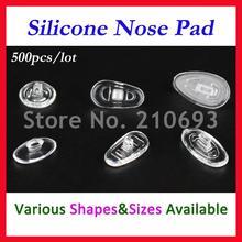 500 шт./лот,, розничная и, очки, силиконовые носоупоры, различные типы и размеры, аксессуары для очков