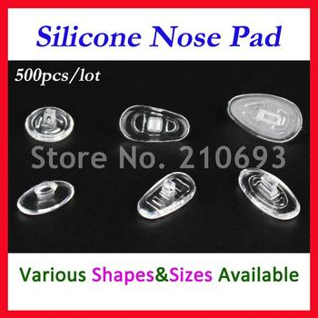 500pcs Free shipping Screw In Retail Wholesale Eyeglasses Glasses Silicone nose pads various types sizes eyewear accessory part - discount item  5% OFF Eyewear & Accessories