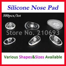 500pcs / lot Free shipping Retail Wholesale Eyeglasses Glasses Silicone nose pads various types & sizes eyewear accessory part