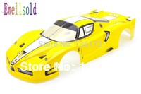 1 10 RC Car Accessories Radio Control Car 1 10 Body Shell 190mm Yellow Free Shipping