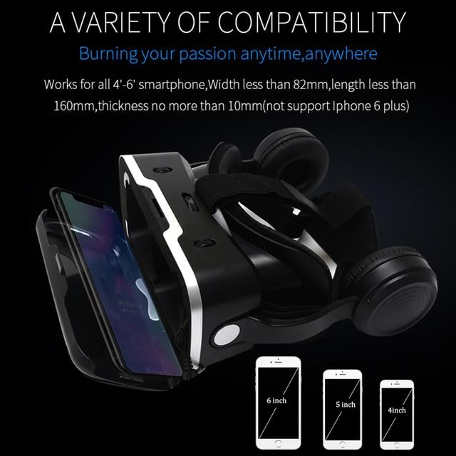 095392b19ba868 VR Headset Shinecon 6.0 Pro Stereo BOX Virtual Reality Smartphone 3D ...