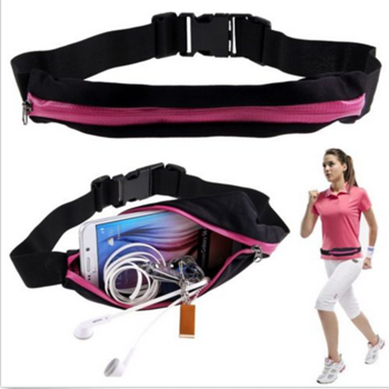 New Outdoor Running Waist Bag Waterproof Mobile Phone Holder Jogging Belt Belly Bag Women Gym Fitness Bag Lady Sport Accessories 12