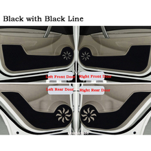 Leather Protector Side Edge Protection Pad Anti-kick Door Mat Anti-dirty Pad Mat For Nissan Qashqai J10  J11 2017 2018 2019 стоимость