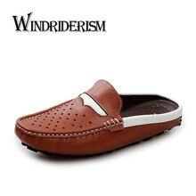 Casual Nuevo 2016 Hombres Sandalias Zapatos Zapatillas de Verano Chanclas zapatillas de Playa Zapatos de Los Hombres Sandalias de Cuero Genuino Zapatos Hombre