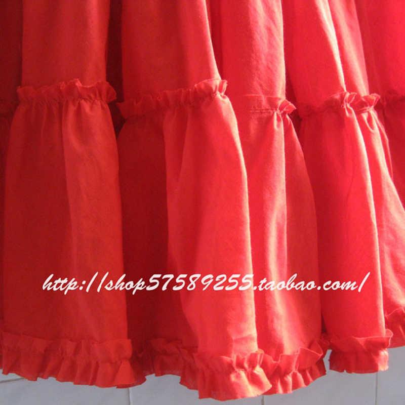 2019 богемные женские длинные пляжные юбки плюс размер летние девочки оборки пляжная юбка женские хлопковые юбки женские однотонные повседневные юбки