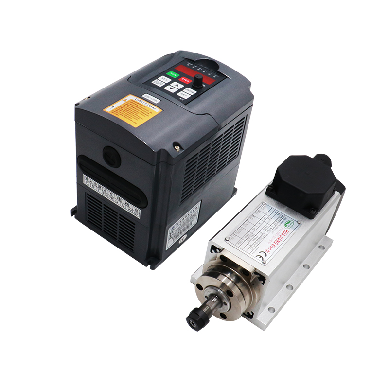 220V 1.5KW Air Cooled CNC Spindle Motor Er11 Collet 1500w HY Inverter / VFD For CNC Router