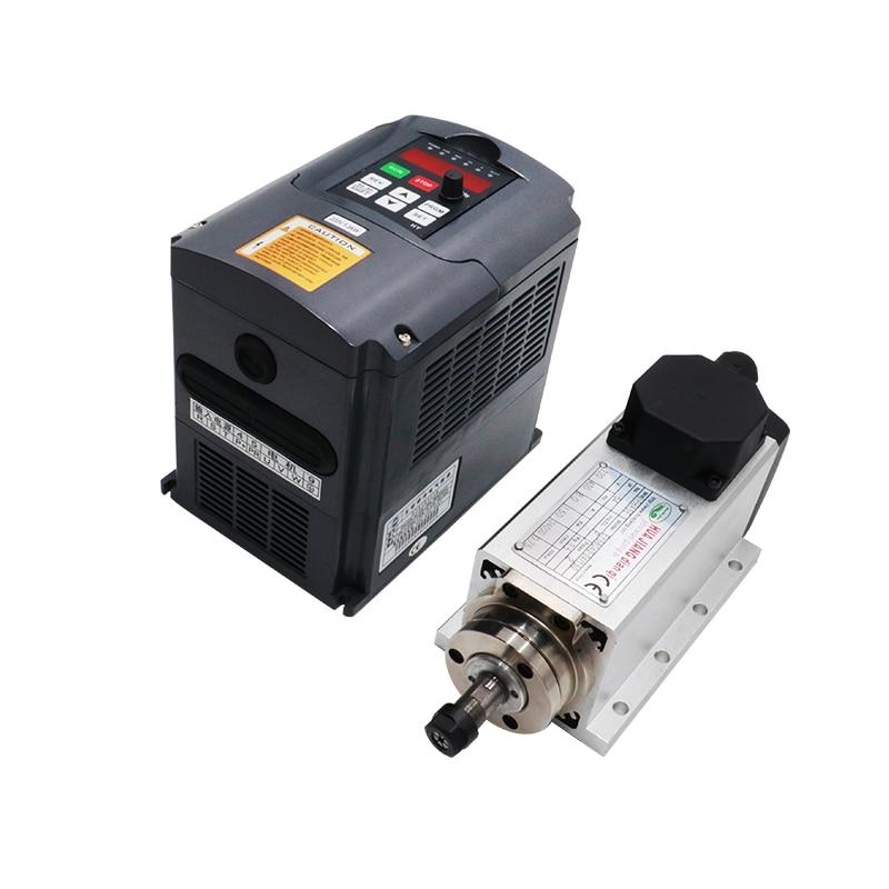 220V 1.5KW Air Cooled CNC Spindle Motor Er11 Collet 1500w HY Inverter / VFD For CNC Router