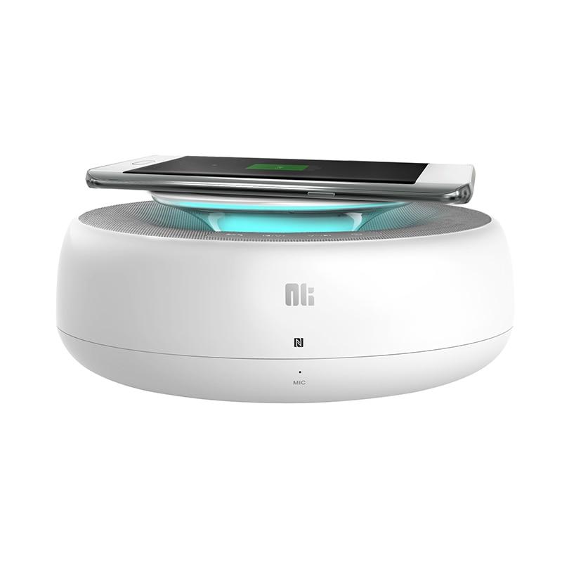 NILLKIN 2 dans 1 NFC Sans Fil Bluetooth Haut-Parleur AUX Entrée RSE 4.0 + QI Chargeur Sans Fil pour Samsung Pratique 2.0 rapide Chargeur