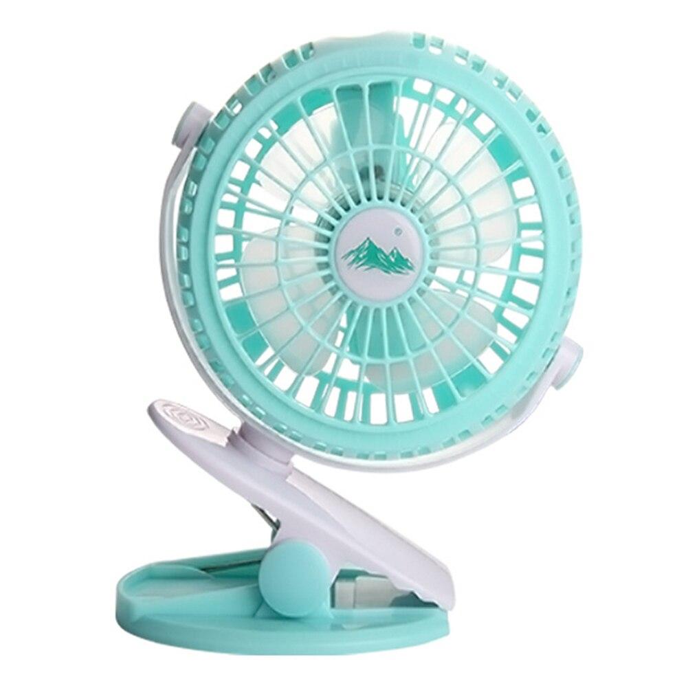 360 Grad Stufenlose Usb Akku Mini Fan Einstellbar Tragbare Oszillierende Clip Auf Schreibtisch Baby Kinderwagen #904 Neue