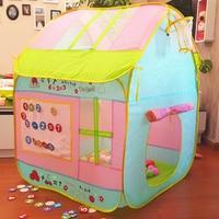 Детский подарок милый качественный детский игровой тент игровой дом Крытый палатка для игр на улице детский пляжный тент, детский подарок