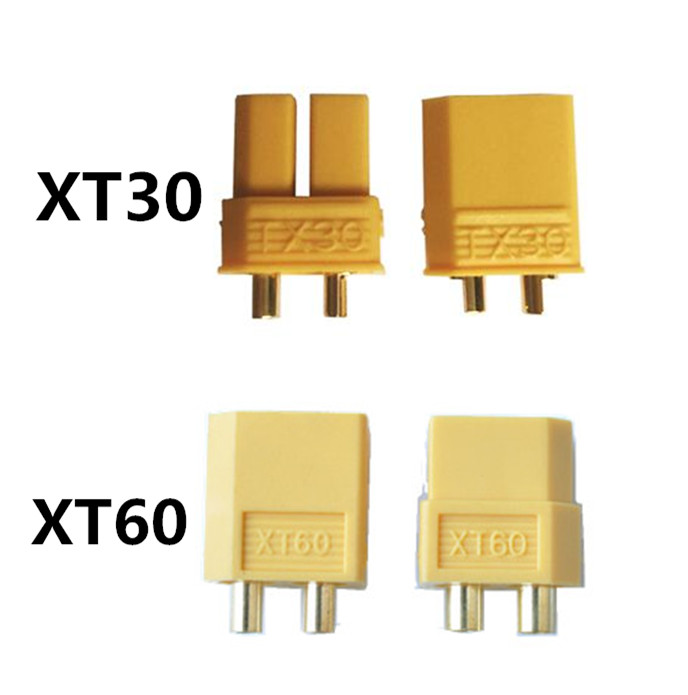 500 Pairs XT60 XT30 Yellow Battery Connector Set Male Female Gold Plated Banana Plug For RC