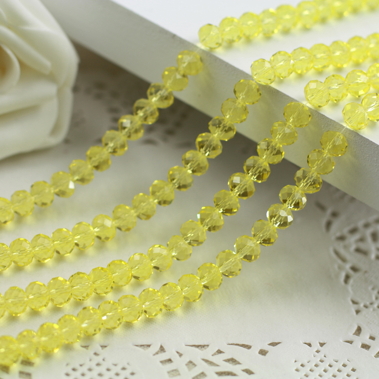 5040 AAA+ citrine Loose Crystal Glass Rondelle beads DIY Jewelry Accessories.2mm 3mm 4mm,6mm,8mm 10mm,12mm Free Shipping!