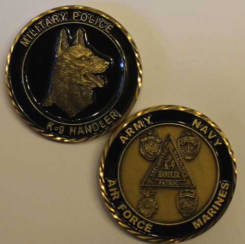 Pièce de défi de la Police militaire de l'armée de l'air Marine de l'armée de terre K9, ordre d'échantillon, livraison gratuite DHL