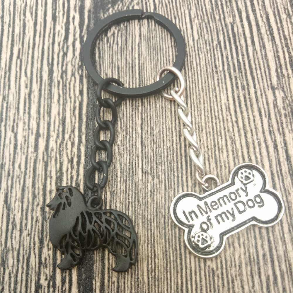 Rough Collie Key Chains Fashion Pet Dog Đồ Trang Sức Rough Collie Xe Keychain Bag Keyring Cho Phụ Nữ Người Đàn Ông