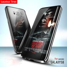 Для Samsung S8 5.8 inch Металлический Каркас Бампер Galaxy S8 Протектор Аксессуар Орхидея Серый Черное Золото Синий Цвет Оболочки Корпуса крышка