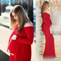 Cutyome Maternity Photography Props Dress For Pregnancy Off Shoulders Maxi Pregnant Dresses Pregnancy Photo Shoot Props Clothes