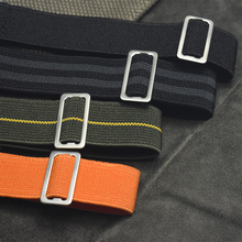 Onthelevel New Arrival French Troops Parachute Bag For Nato Elastic Nylon Belt  18 20 22MM Wacthband watch Strap Band