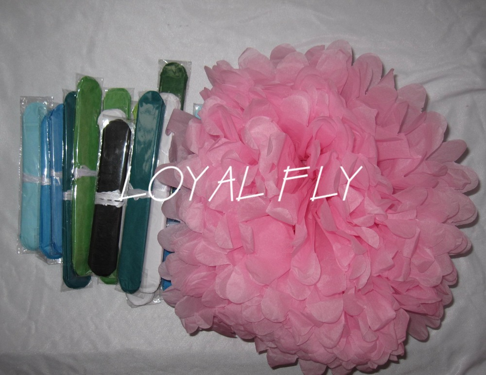 """Set of 50 Party Tissue Pom Poms Decor for Birthday's parties mixed 4"""" 8"""" 10"""" 12"""" 14"""" christmas ornament"""