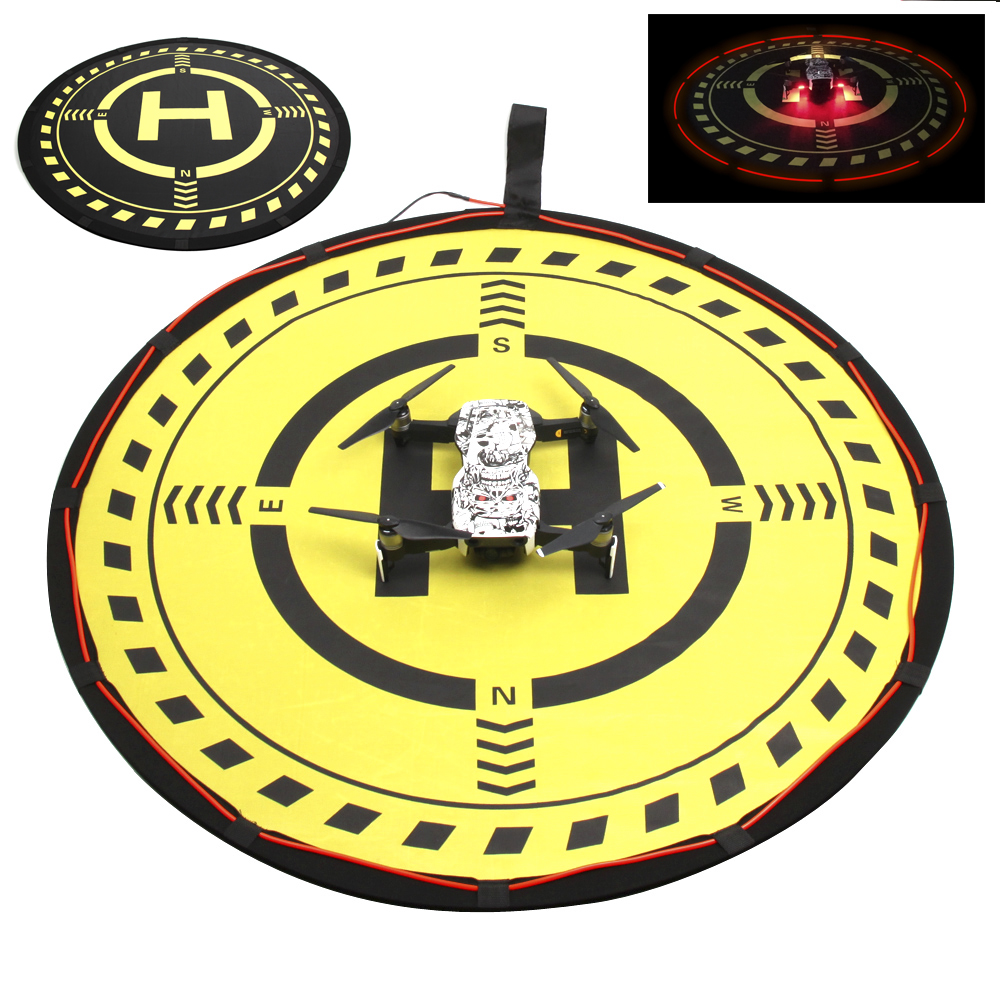 70CM Landing Pad with LED Light Folding Parking Tarmac for DJI Mavic Pro Air Mavic 2 Zoom Spark Phantom 3 4 Pro Inspire 1 drone easttowest portable fast fold 75cm drone landing pad for dji mavic pro spark mavic air phantom 2 3 4 drone quadcopter