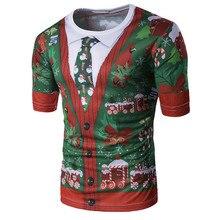 Рождественская Мужская футболка Харадзюку, уличная одежда, футболка с коротким рукавом, забавная компрессионная футболка в стиле хип-хоп, camisetas hombre