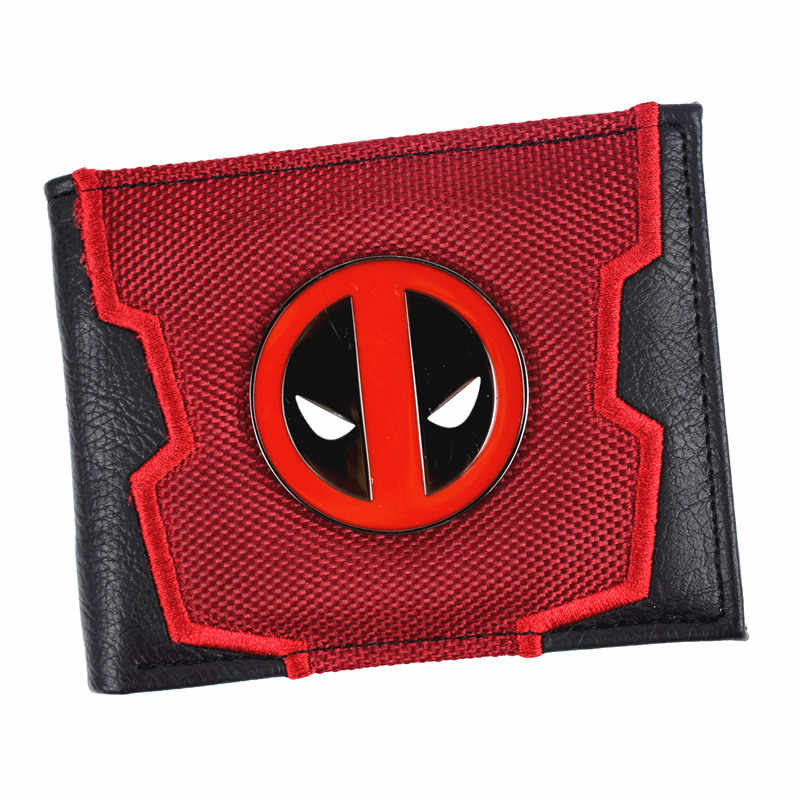New Arrival Marvel Deadpool / Captain America Bi-Fold Wallet Cool Design Men's Short Wallets